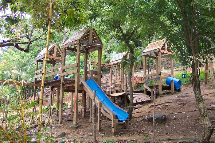 Community playground built by Mission Roatán